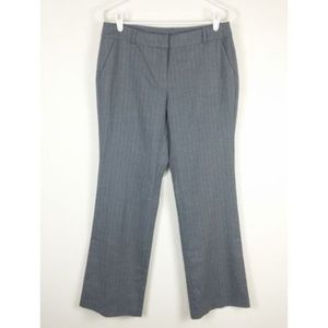 NY & Co. Stretch Gray Pinstripe Dress Pants